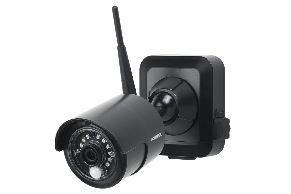 1080p Outdoor Wireless Camera System, 4 Rechargeable Wire Free Battery  Powered Black Cameras, 80ft