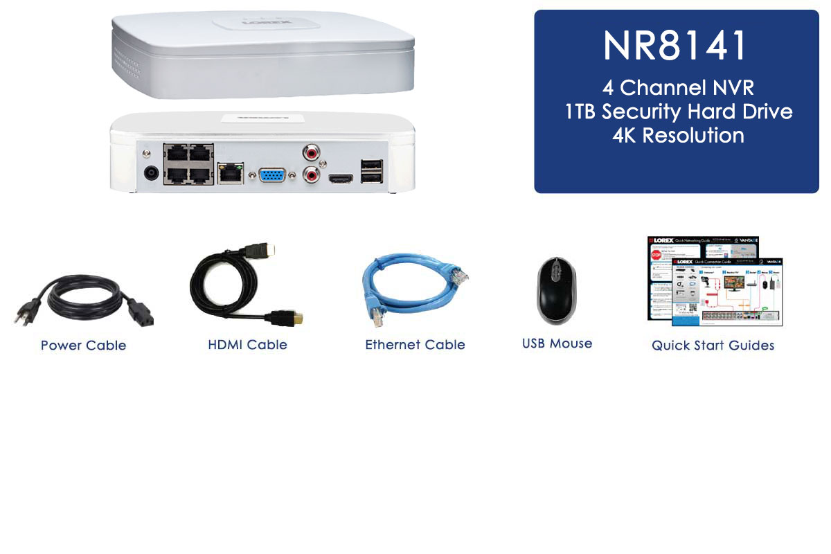 4K ULTRA HD NVR with FLIR Cloud   Lorex