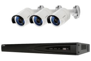 IP security camera system with 1080p cameras