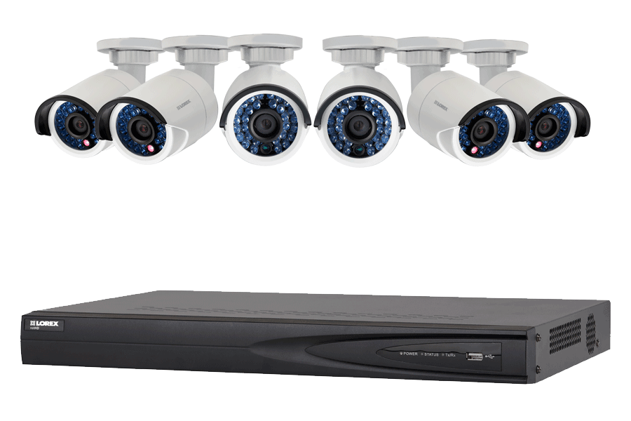 Security NVR system with High Definition IP cameras