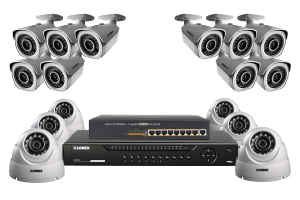 Security surveillance system with HD 16 IP Cameras