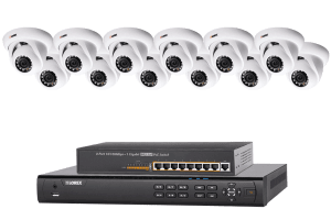 HD security NVR 16 channel system with 12 cameras