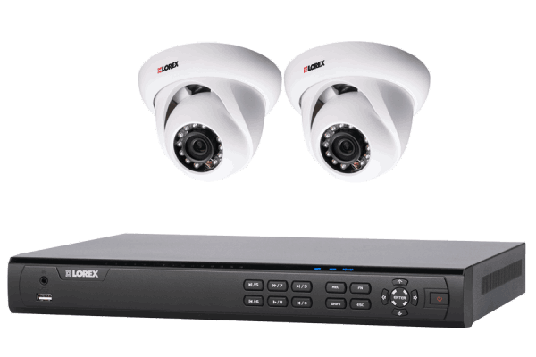 HD NVR security camera system with 2 cameras