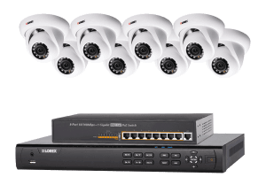 High Definition IP camera system with 8 channel NVR