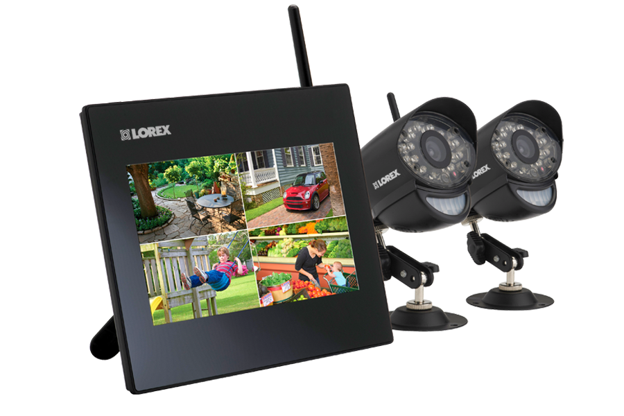 Security system with 2 wireless cameras | Lorex