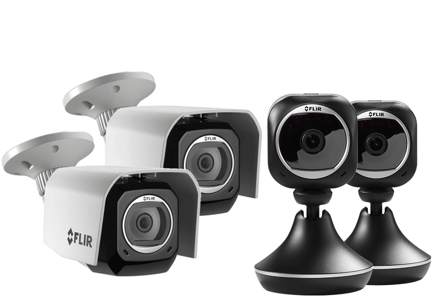 2 Weatherproof HD Security Cameras 2 Wi Fi Home Monitoring Cameras