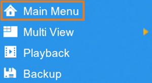 Right-click then click Main Menu