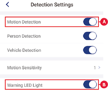 Detection Settings