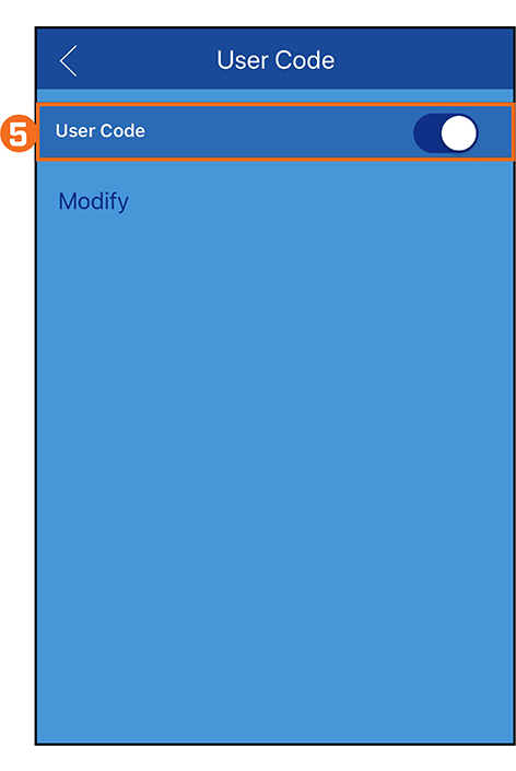 User Code On