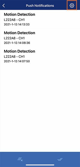 Notifications screen