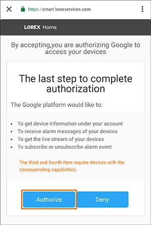 tap authorize