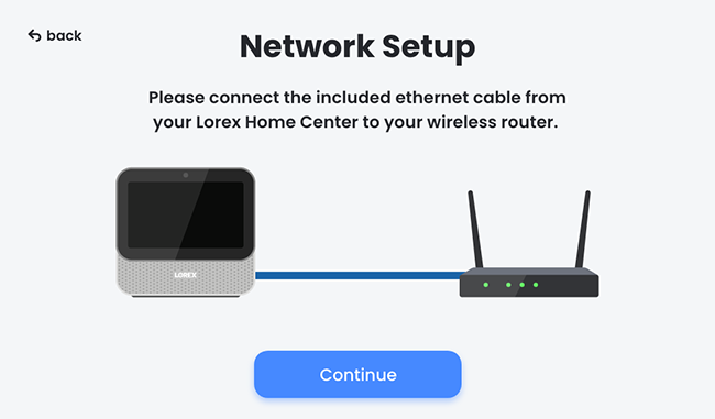 Connect Ethernet cable