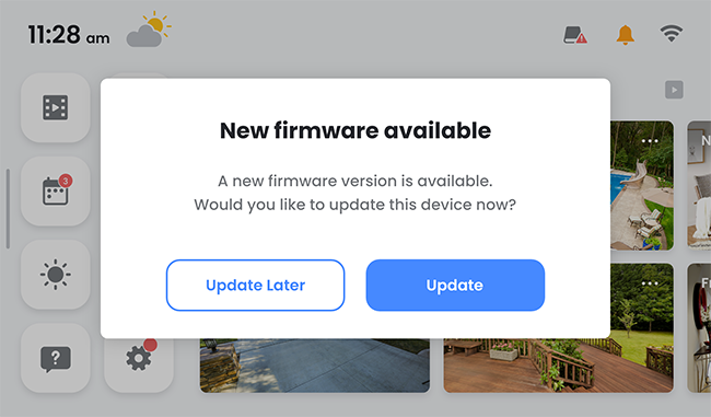 new firmware available