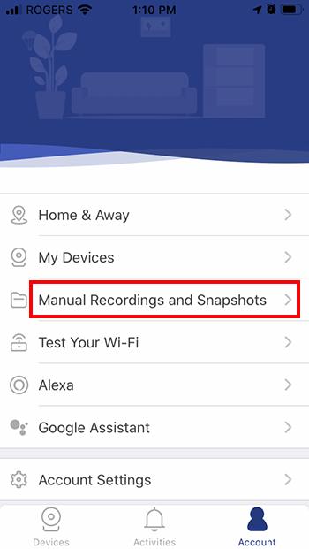 Manual Recordings and Snapshots